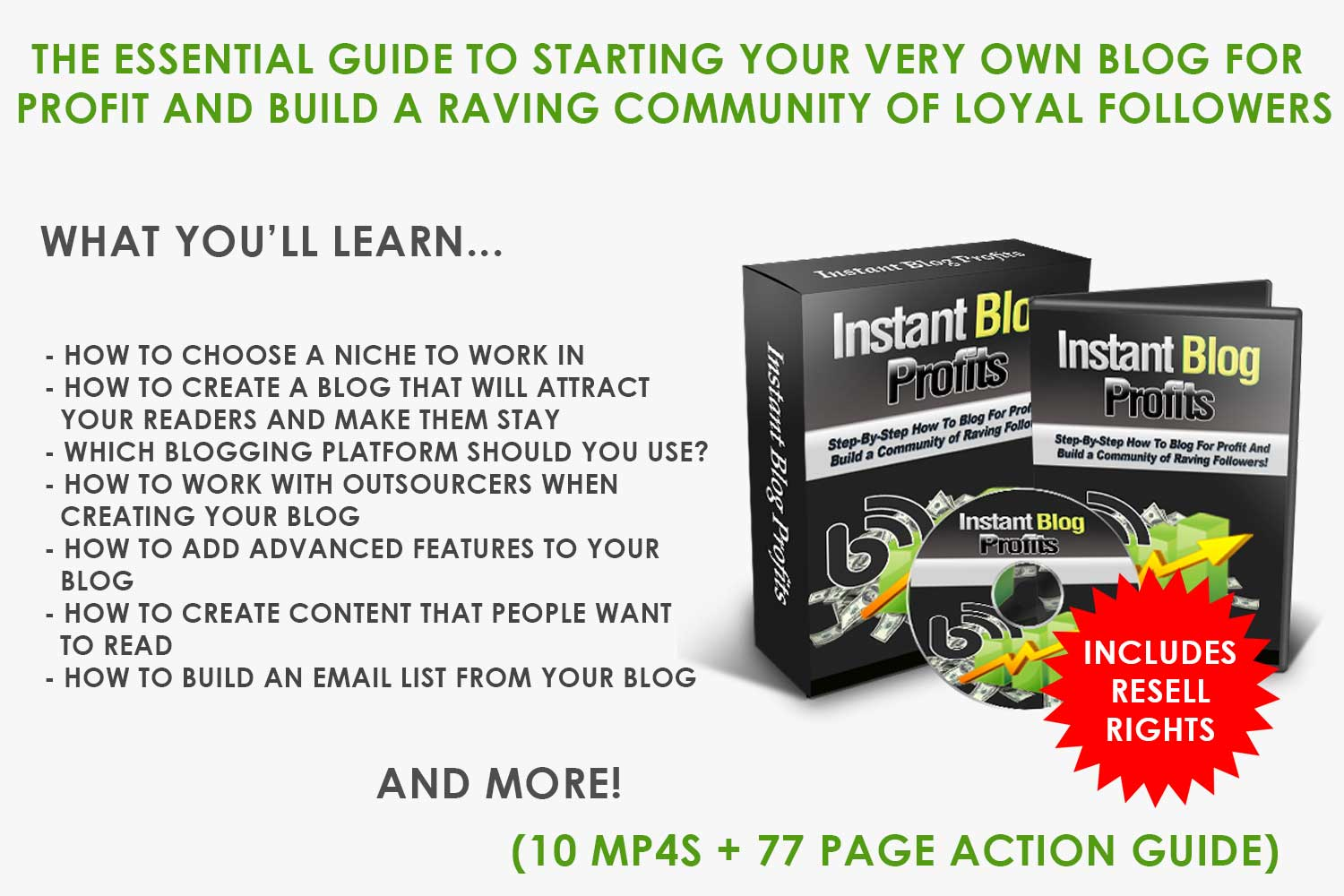 How to Get Instant Blogging Profits